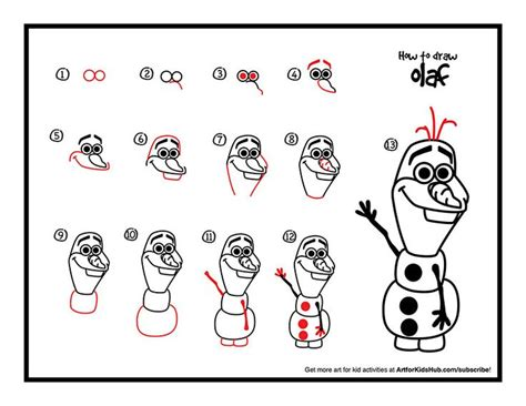 doodle draw olaf how to draw olaf from frozen for hub frozen