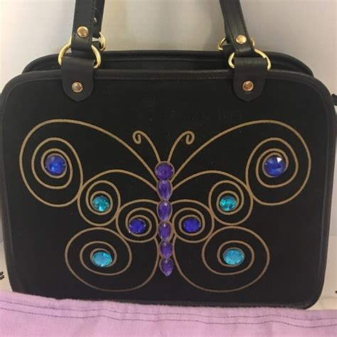 Lulu Guinnesss Butterfly Embroidered by 57 Lulu Guiness Handbags Lulu Guinness