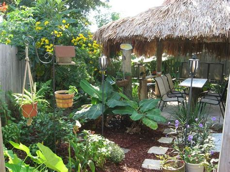 Tiki Backyard Looks Amazing Credit To R Gardening Backyard Tiki Bar Ideas