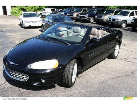 black chrysler 2002 black chrysler sebring lxi convertible 17271001