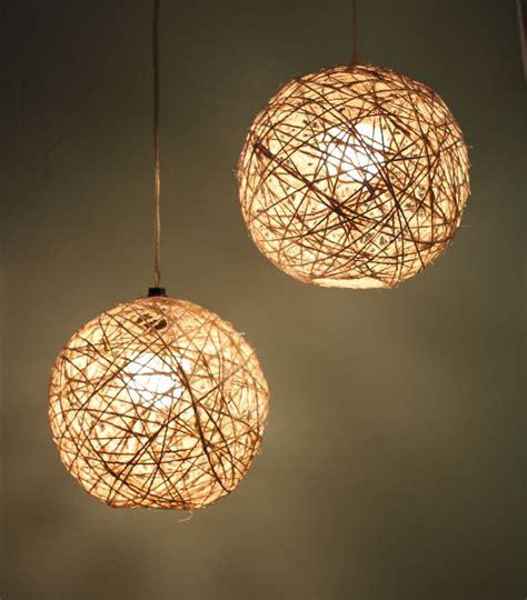 lamparas de lana diy