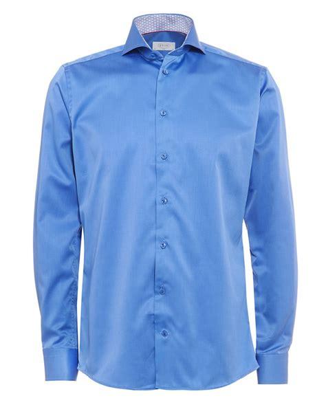 Blouse Owl Blue 1 eton shirts mid blue owl print collar shirt