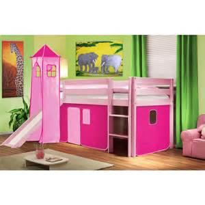 lit mezzanine toboggan enfant princesse sofia meuble de style