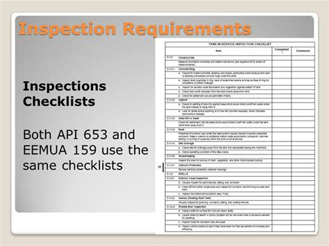 section 8 inspection guidelines comparison of eemua 159 to api standards ppt video