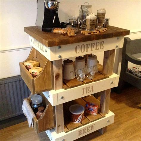 Pallet And Reclaimed Wood Tea Amp Coffee Station 99 Pallets