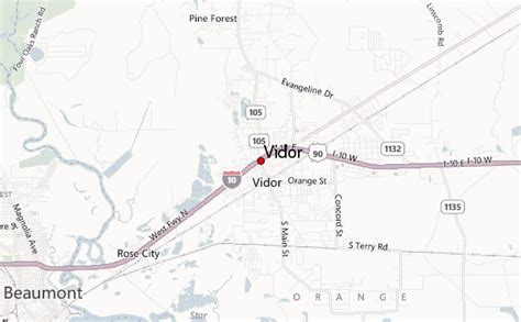 vidor texas map vidor location guide