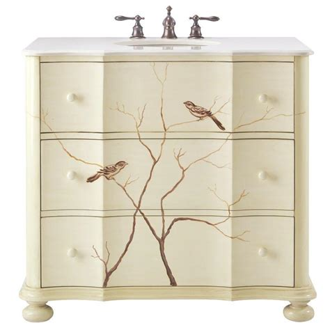 Home Decorators Collection Bathroom Vanity by Home Decorators Collection Bathroom 37 In W Chirp Bath Vanity In Antique White With Faux
