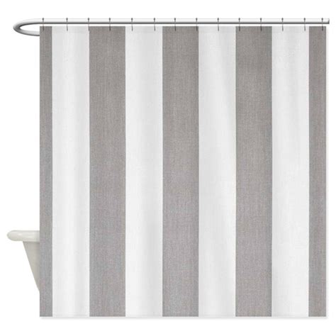 Manly Shower Curtains by Manly Gray Stripes Shower Curtain By Stripstrapstripes