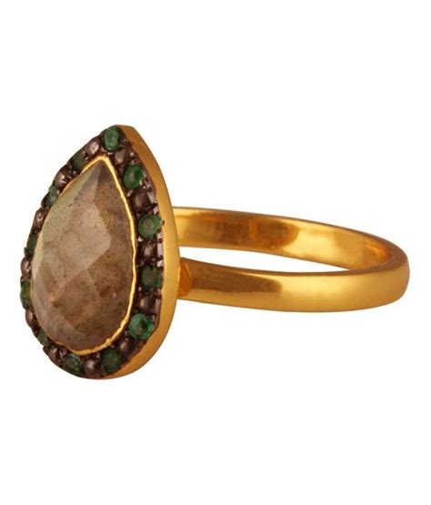studded emerald ring by mirrorwhite buy studded emerald