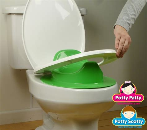 green potty seat ii  boys potty scotty