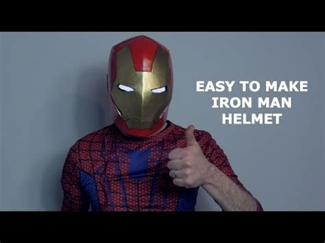 How To Make A Ironman Helmet Out Of Paper - how to make an iron helmet