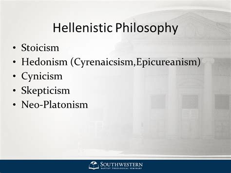 philosophy in the hellenistic hellenistic roman philosophy lecture slides