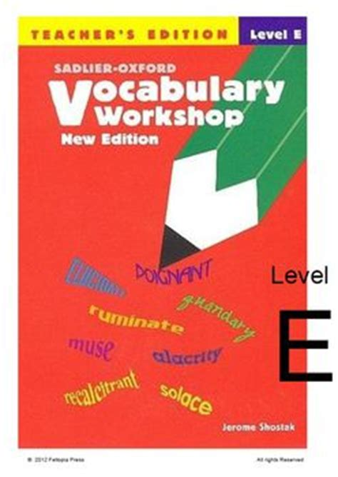 vocabulary workshop level f practice vocabulary tests for sadlier oxford vocabulary workshop review key level f unit