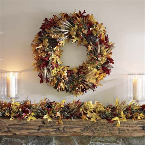 Autumn Garland Decorations by Fall Leaf Garland Traditional Wreaths And Garlands