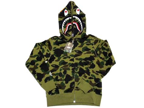 Bape Shark Camo 楽天市場 a bathing ape エイプ 1st camo shark zip hoodie