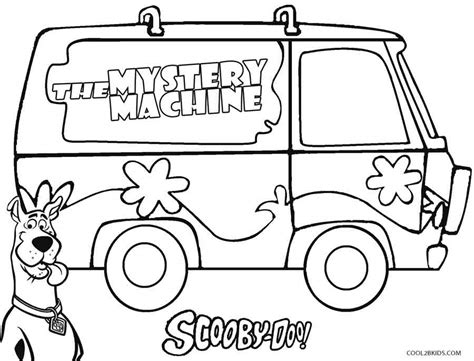 Mystery Machine Coloring Page printable scooby doo coloring pages for cool2bkids