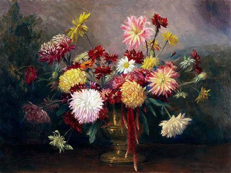 imagenes arte pinturas canastas  jarrones  flores