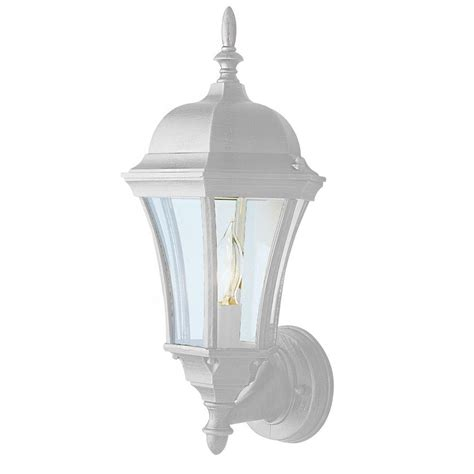 Outdoor Lighting White Bel Air Lighting Cabernet Collection Outdoor White Coach Lantern With Clear Curved Shade 4502 Wh