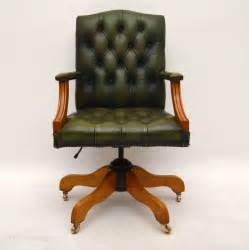 Leather Swivel Desk Chair by Antiques Atlas Antique Georgian Style Leather Swivel Desk Chair