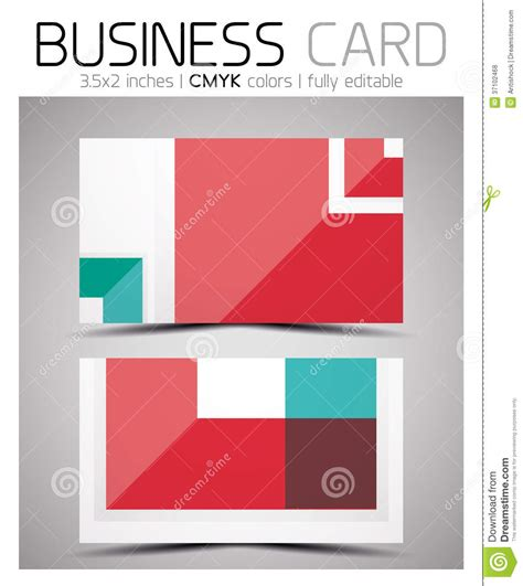 business card shapes templates vector cmyk business card design template stock vector