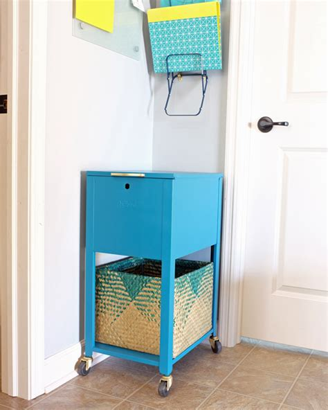 Teal File Cabinet Command Center Filing Cabinet Teal And Lime By Jackie Hernandez