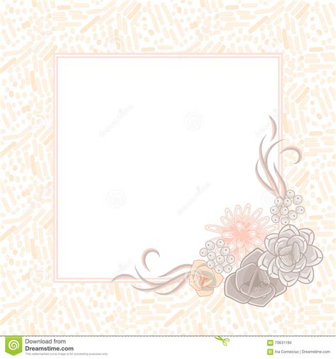 wedding note cards template flower square card template vector stock vector image