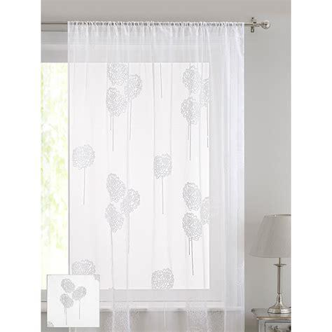 floral voile curtains floral flock voile curtain pompom curtains home