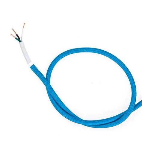 blue wires in electricity cloth covered wire electric blue color cord company