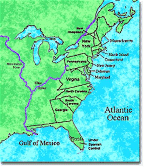 colonie map the middle colonies ushistory org