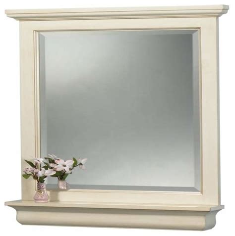 Antique Bathroom Mirrors Foremost Cottage 24 Inch Mirror Premium Antique White Finish Bathroom Mirrors By Knobdeco