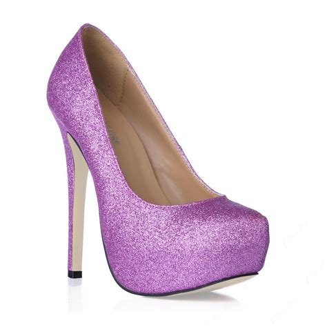 purple shoes for purple pu stiletto heels closed toes