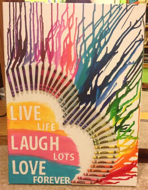 crayon sayings diy crayon on canvas quote an easy way to jazz up