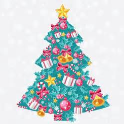 abstract christmas tree vector art free vector in