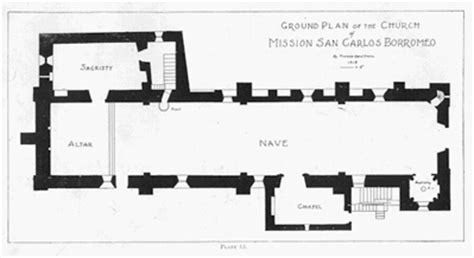 mission san carlos borromeo de carmelo floor plan mission diagrams carmelmission