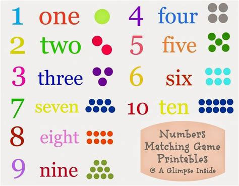 Printable Numbers Matching Game | 8 best images of number memory game printable printable