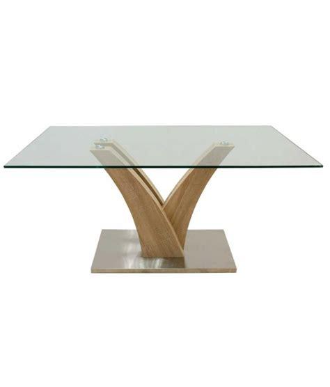 mesa comedor madera y cristal comprar mesa de comedor de madera y cristal 160x90 cm