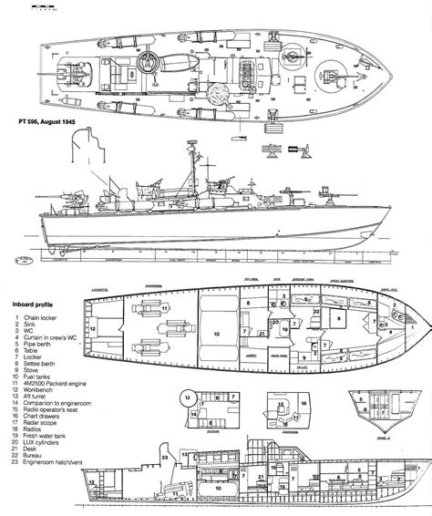 pt boat line drawings pt 596 by maurizio ertreo