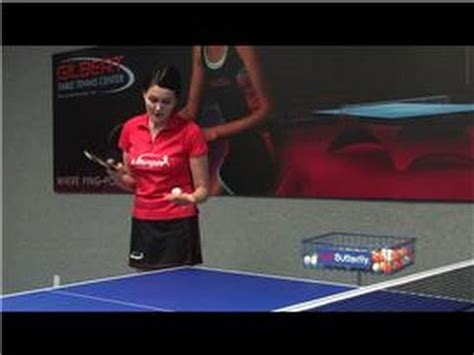 Table Tennis Serve by Table Tennis How To Hit A Forehand Top Spin Serve In