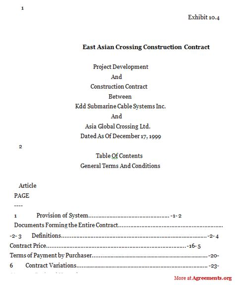 Free Franchise Agreement Template east asia crossing construction contract agreement sample