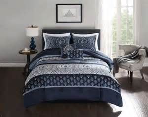 hometrends ikat damask 5 pieces comforter set king
