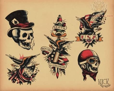 old skool tattoo school images designs