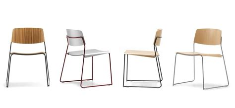 sigma sedie sedia impilabile in faggio multistrato base a slitta