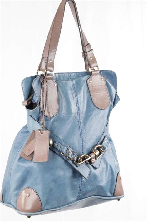 Kerala Zipped Purse by Turquoise And Taupe Leather Kerala Bag Slouchy Tote
