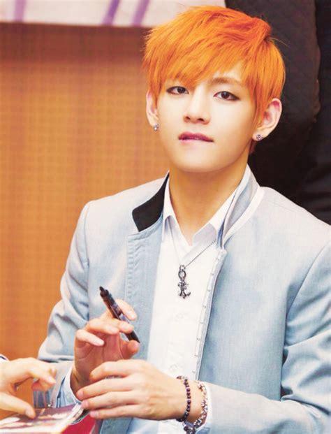 kim taehyung orange hair trending tumblr