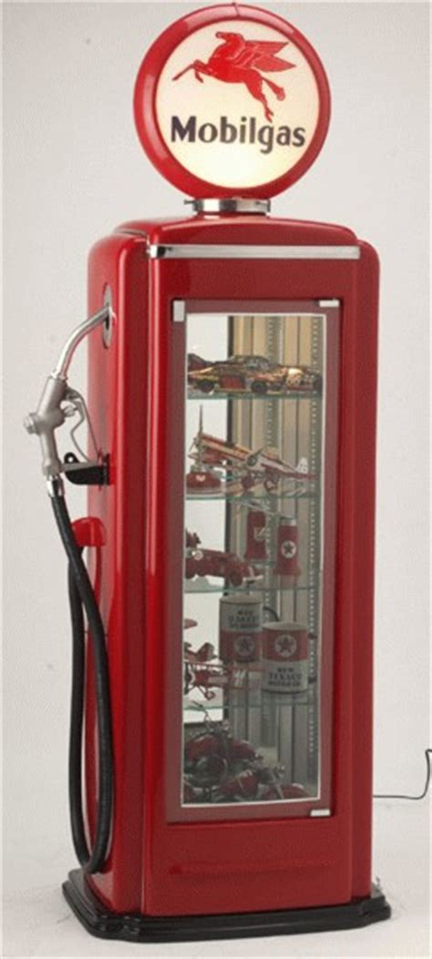 gas pump display cabinet products cambridge nostalgia co retro furniture