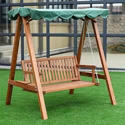 tangkula outdoor patio swing wooden loveseat hammock