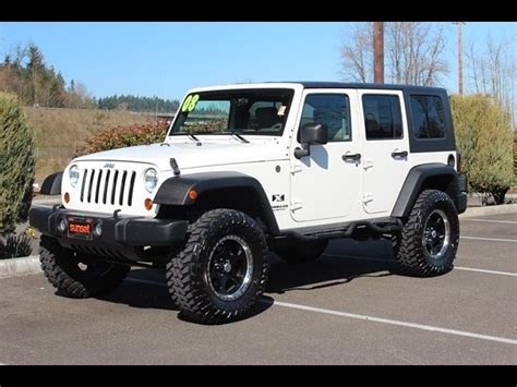 2008 jeep wrangler unlimited x accessories 2008 jeep wrangler unlimited x white 4dr search