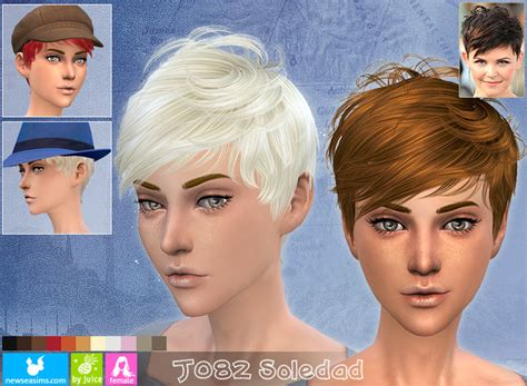 sims  hairs newsea  soledad hairstyle
