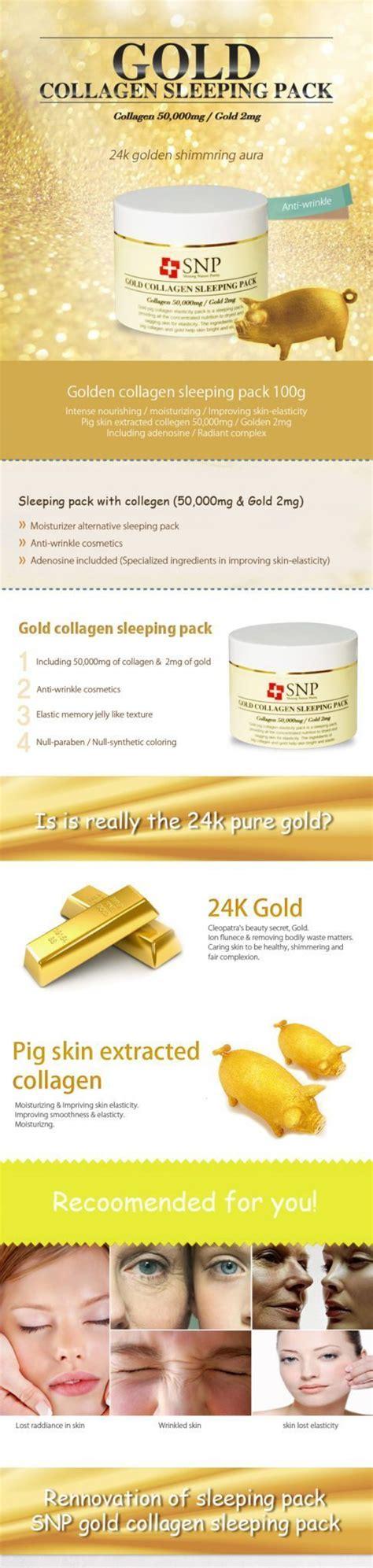 Collagen Indonesia snp gold collagen sleeping pack korean skincare shop malaysia