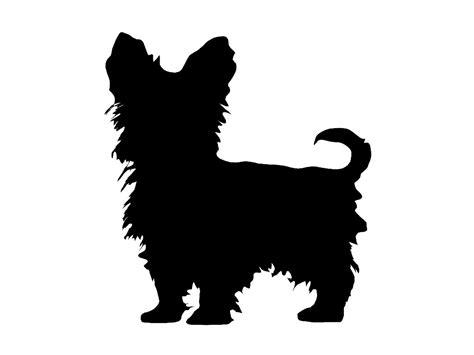 yorkie silhouette terrier v4 breed silhouette custom die cut vinyl
